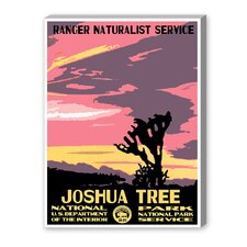 Joshua Tree National Park Vintage Advertisement on Canvas