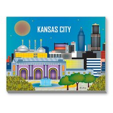 Kansas City Graphic Art on Canvas