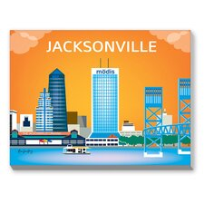 Jacksonville Graphic Art on Canvas