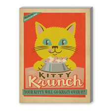 Kitty Krunch Vintage Advertisement on Canvas