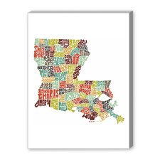 Louisiana Color Textual Art on Canvas