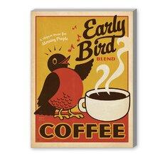 Early Bird Vintage Advertisement on Canvas