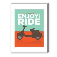 Enjoy the Ride Vespa Graphic Art on Canvas