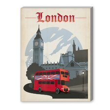 London Vintage Advertisement on Canvas