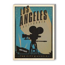 Los Angeles California Vintage Advertisement on Canvas