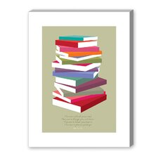 Dr Suess Books Pile Graphic Art on Canvas