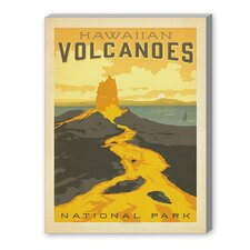 Hawaiian Volcanoes Vintage Advertisement on Canvas