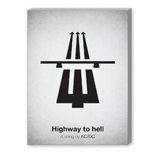 Highway to Hell Graphic Art on Canvas