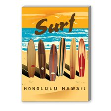 Honolulu Vintage Advertisement on Canvas