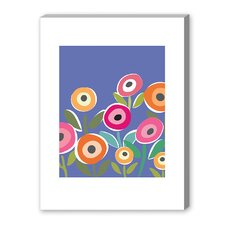 Floripop Gallery Wrapped Canvas in Blue