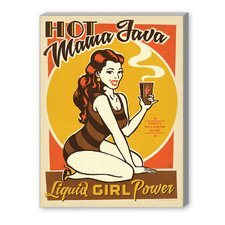 Hot Mama Java Vintage Advertisement on Canvas
