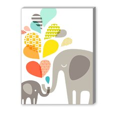 Elephants Graphic Art