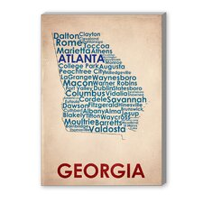 Georgia Textual Art on Canvas