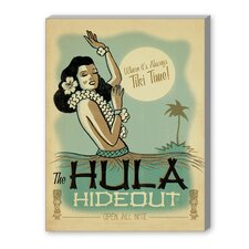 Hula Hide Out Vintage Advertisement on Canvas