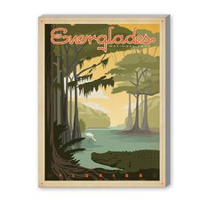 Everglades Vintage Advertisement on Canvas