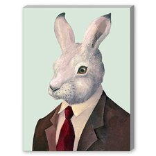 Rabbit Graphic Art on Canvas
