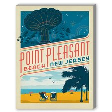 Point Pleasant New Jersey Vintage Advertisement on Canvas