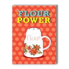 Flour Power Vintage Advertisement on Canvas