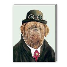Dogue de Bordeaux Graphic Art on Canvas