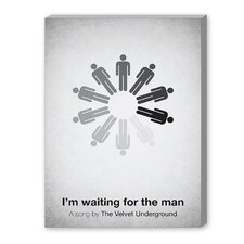 I'm Waiting for the Man Graphic Art on Canvas