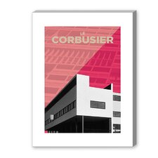 Corbusier Graphic Art on Canvas in Pink