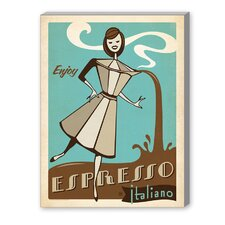 Espresso Italiano Vintage Advertisement on Canvas