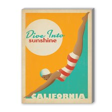Dive into Sunshine Vintage Advertisement on Canvas