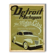 Detroit Michigan Vintage Advertisement on Canvas