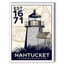 Nantucket Vintage Advertisement on Canvas