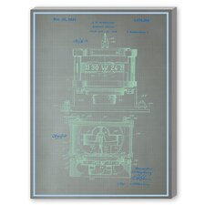 Magnetic Compass Profile Graphic Art on Canvas