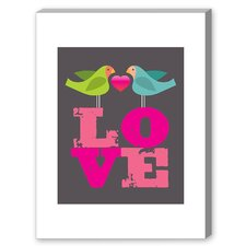Lovebirds Graphic Art on Canvas