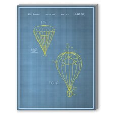 Parachute Graphic Art on Canvas
