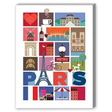 Paris Graphic Art on Canvas