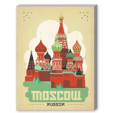 Moscow Graphic Art on Canvas