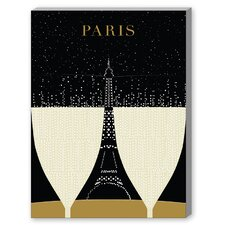 Paris 2 Graphic Art on Canvas