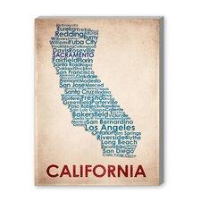 California Textual Art on Canvas