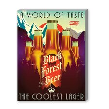 Black Forest Beer Vintage Advertisement on Canvas