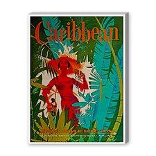 Caribbean Vintage Advertisement on Canvas