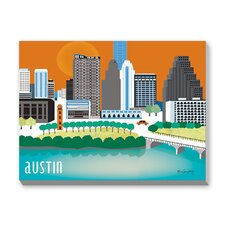 Austin Graphic Art on Canvas
