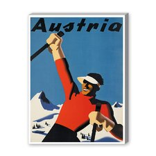 Austria Ski Vintage Advertisement on Canvas