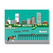 Boston Graphic Art on Canvas