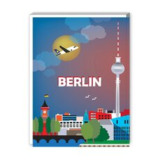 Berlin Graphic Art on Canvas