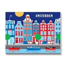 Amsterdam Graphic Art on Canvas