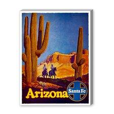 Arizona Santa Fe Vintage Advertisement on Canvas