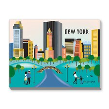 Central Park New York Graphic Art on Canvas
