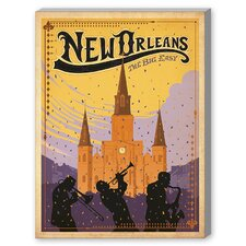 New Orleans Graphic Art on Canvas