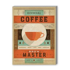 Coffee Brew Master Vintage Advertisement on Canvas
