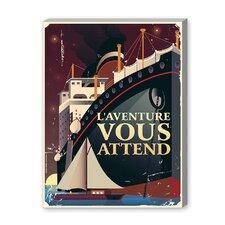Adventure Vous Attend Vintage Advertisement on Canvas