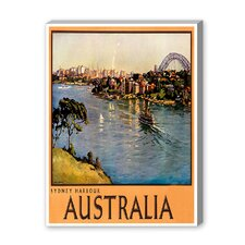 Australia Sydney Harbor Vintage Advertisement on Canvas