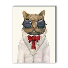 Astro Cat Graphic Art on Canvas